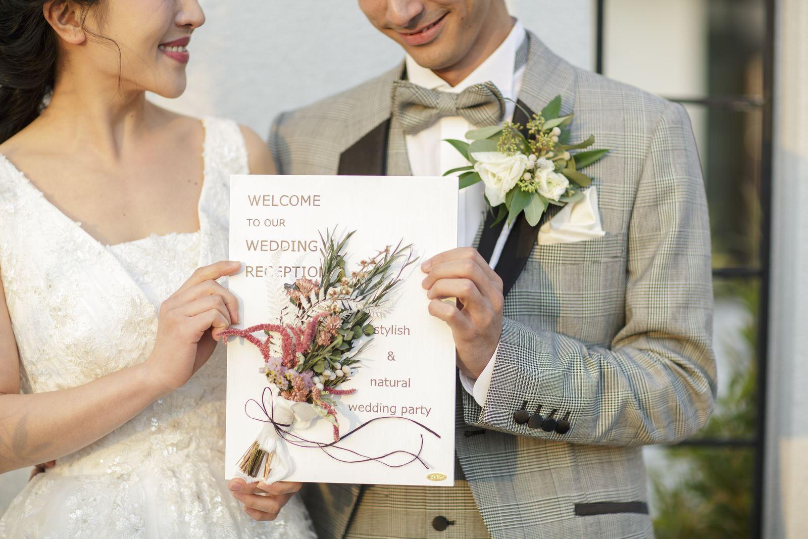 香川県の結婚式場アイスタイルのウエルカムボード