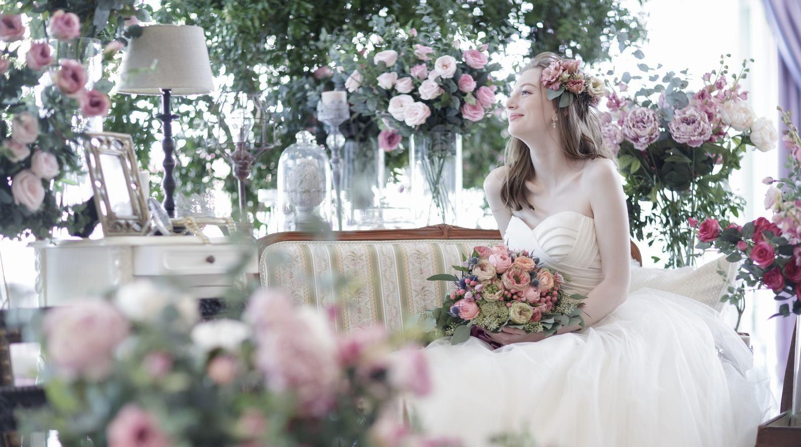 香川県の結婚式場シェルエメールのスイートLでの結婚式イメージ