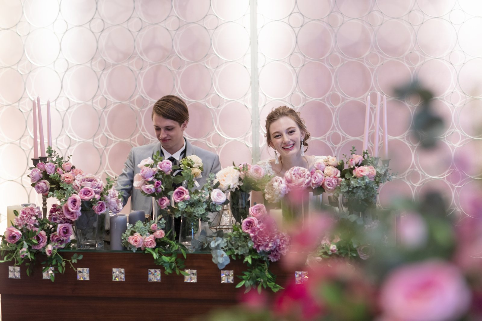香川県の結婚式場シェルエメールのスイートLのテーブルコーディネート