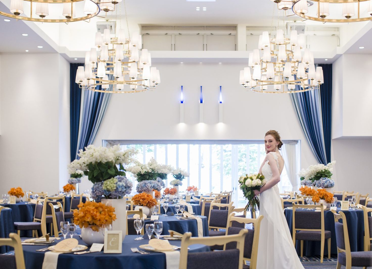 香川県の結婚式場シェルエメールのグラデートの会場コーディネート