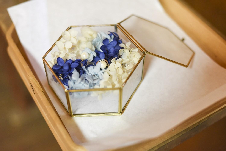 香川県の結婚式場シェルエメールのリングピロー