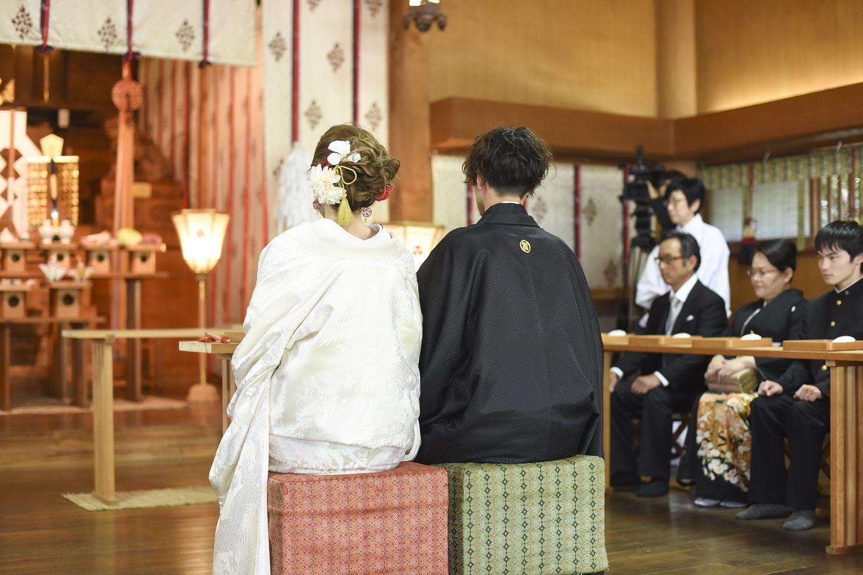 香川県の結婚式場シェルエメールの神社挙式の風景
