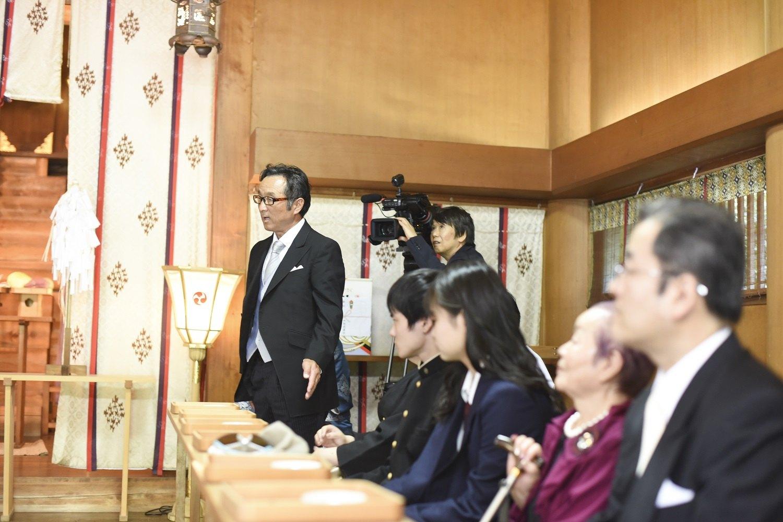 香川県の結婚式場シェルエメールで神前挙式の風景