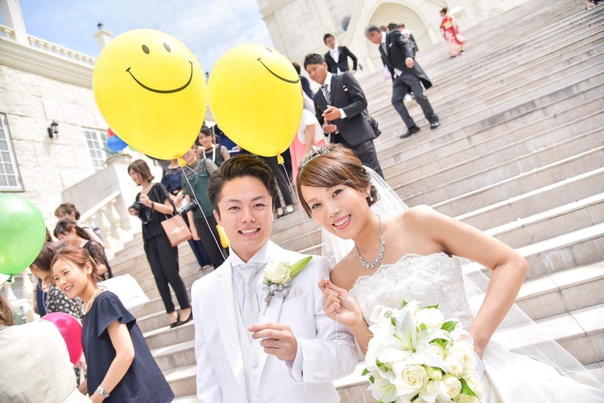 香川県の結婚式場シェルエメールで結婚式を挙げた新郎新婦