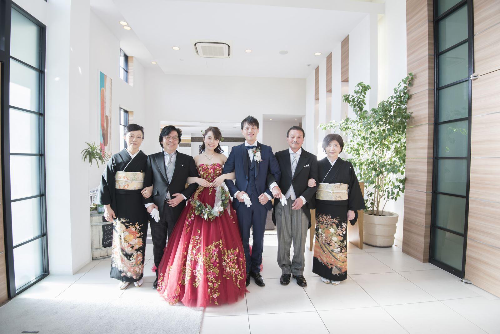 香川県の結婚式場シェルエメール&アイスタイル ご両家写真