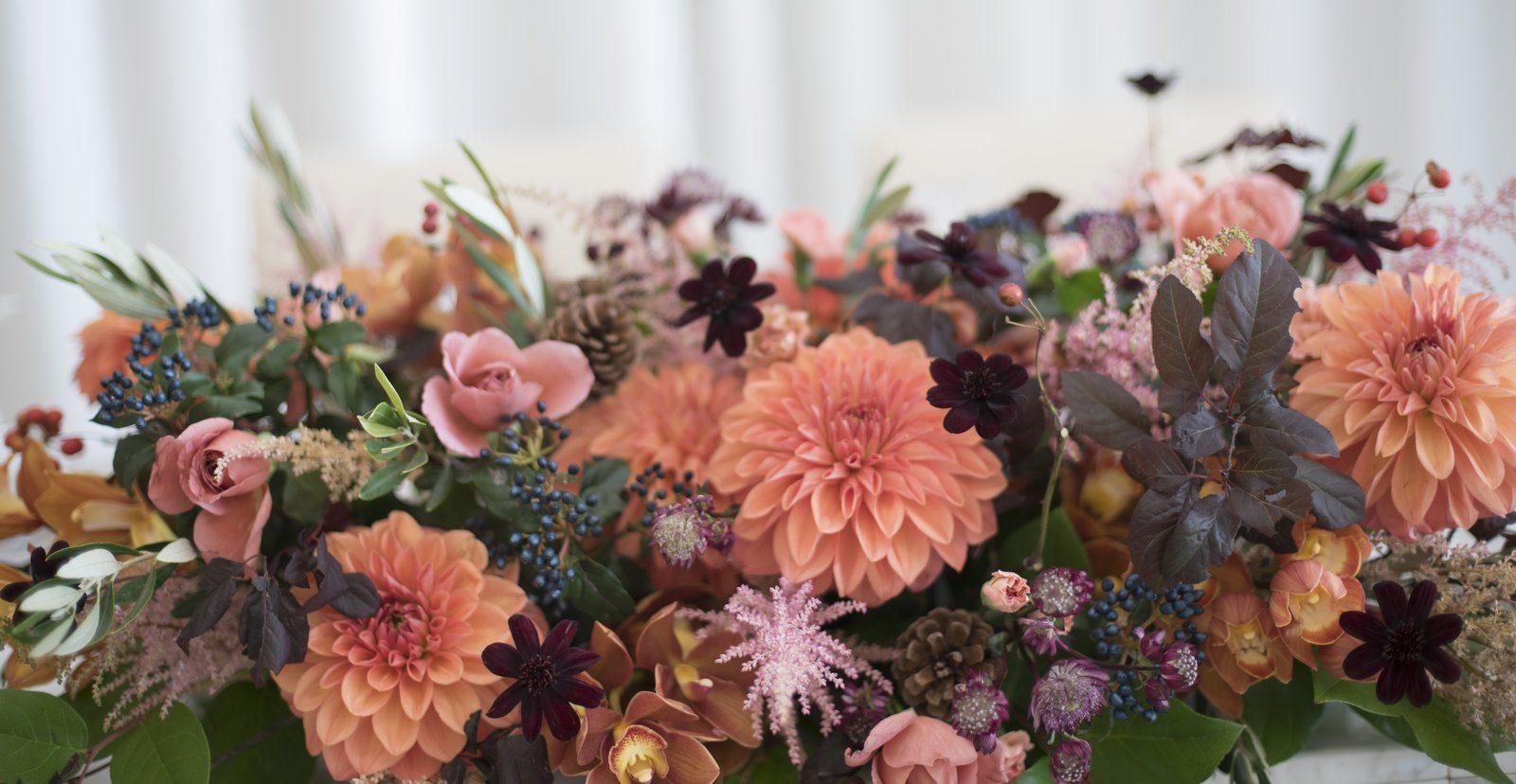 香川県の結婚式場シェルエメール&アイスタイル メイン装花