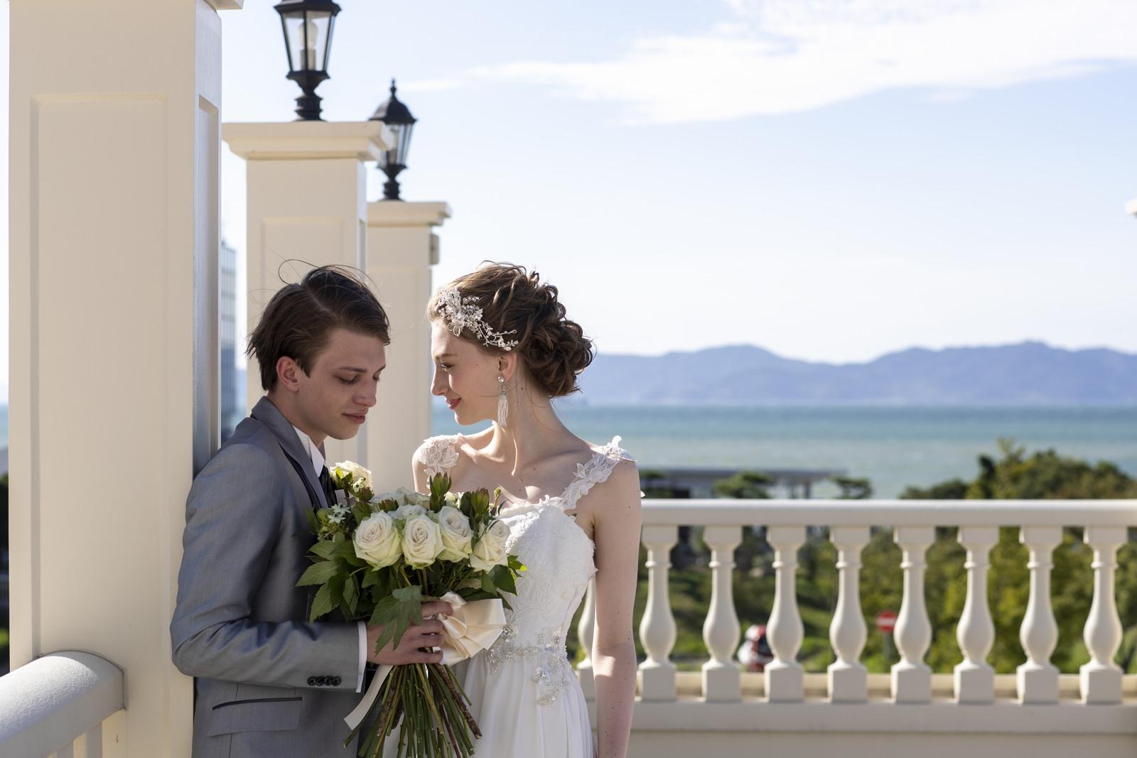 香川の結婚式場シェルエメール&アイスタイルの海のロケーション