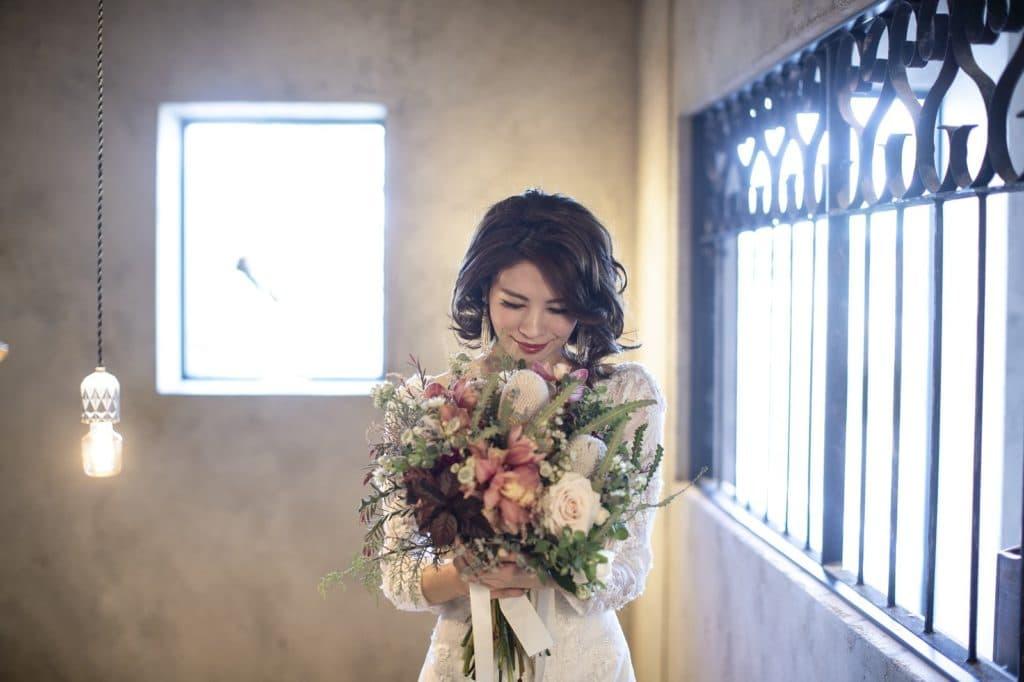 香川の結婚式場シェルエメールでのウエディングドレス