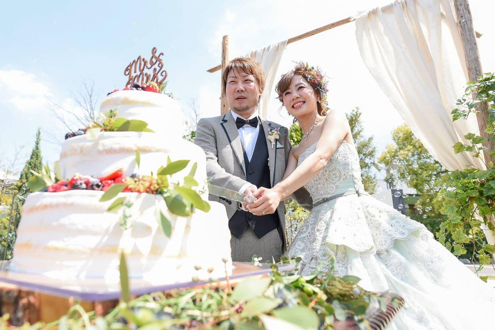 香川の結婚式場シェルエメール&アイスタイル ケーキ入刀