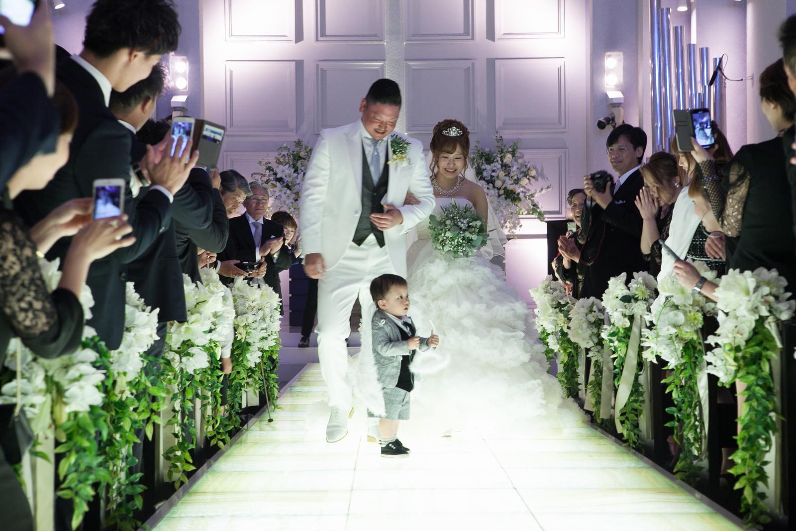 香川の結婚式場シェルエメール&アイスタイル 挙式退場