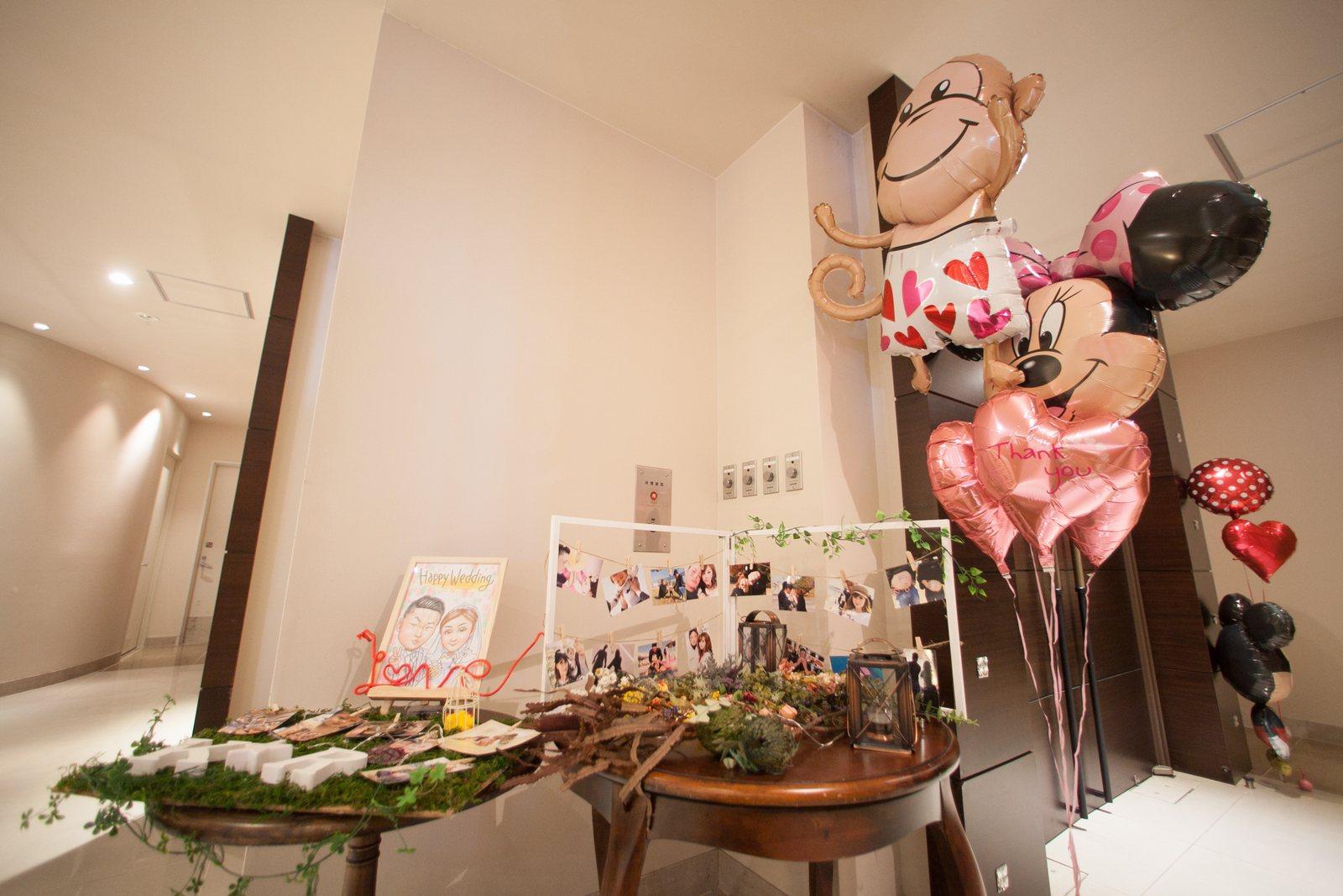 香川の結婚式場シェルエメール&アイスタイル 受付装飾