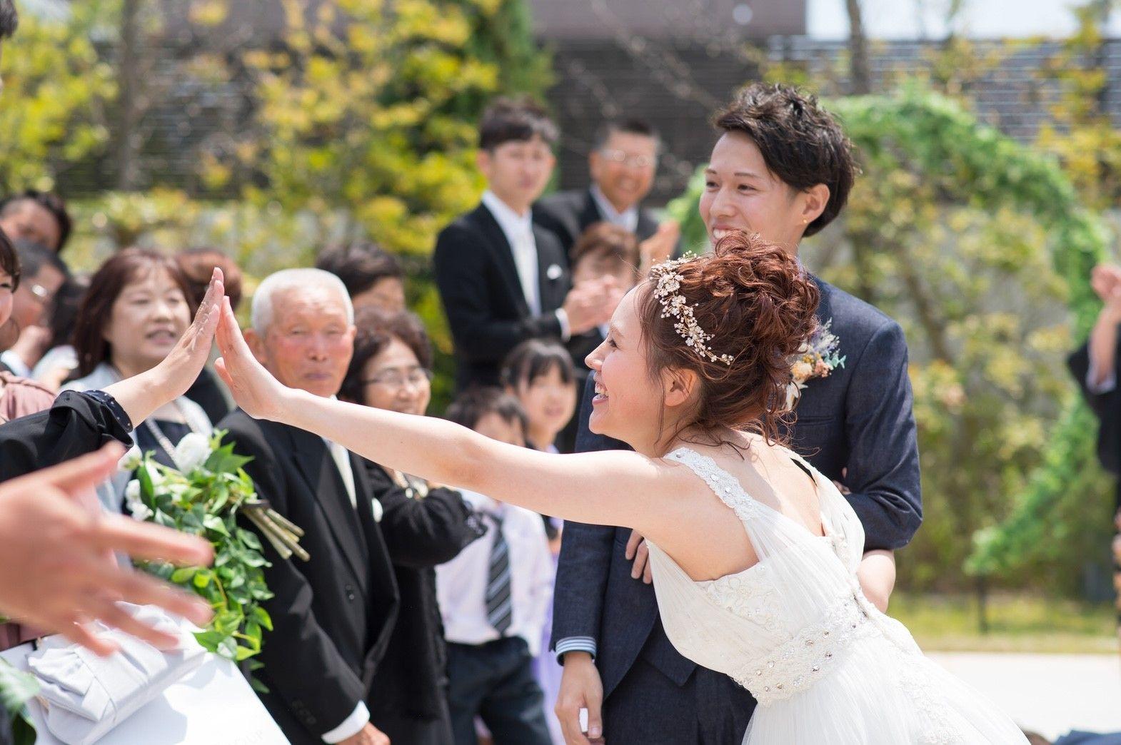 香川の結婚式場のシェルエメール&アイスタイルのハイタッチセレモニー