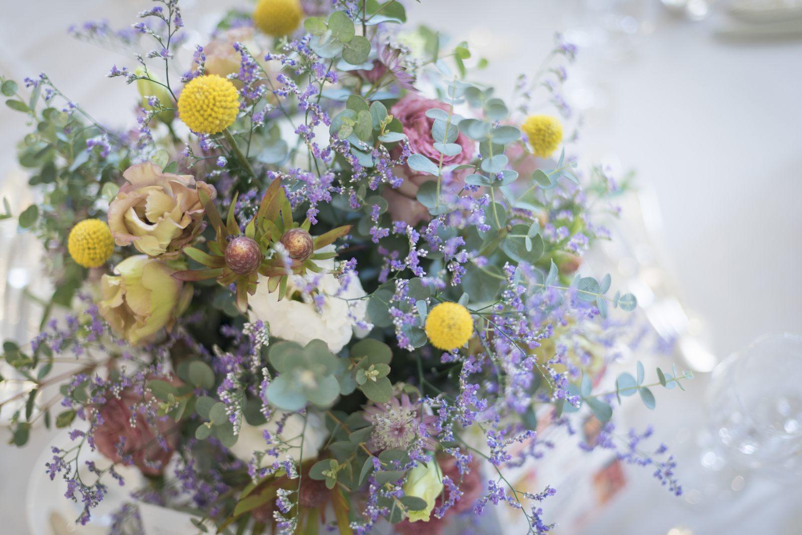 香川県の結婚式場シェルエメール&アイスタイル 卓上装花