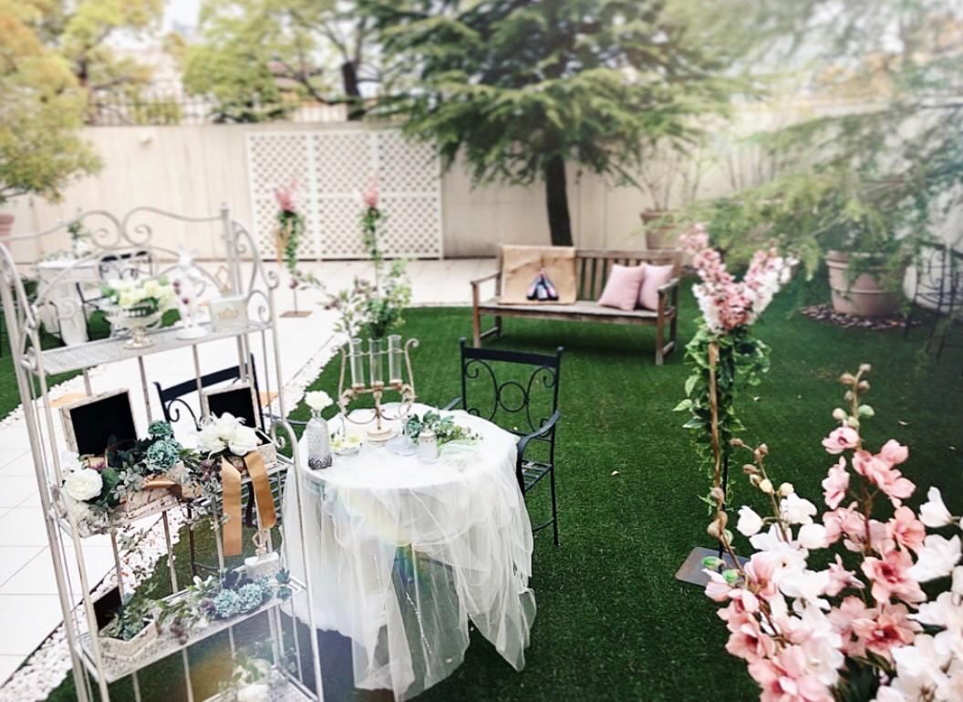 香川の結婚式場のシェルエメール&アイスタイルのエレガントなガーデン