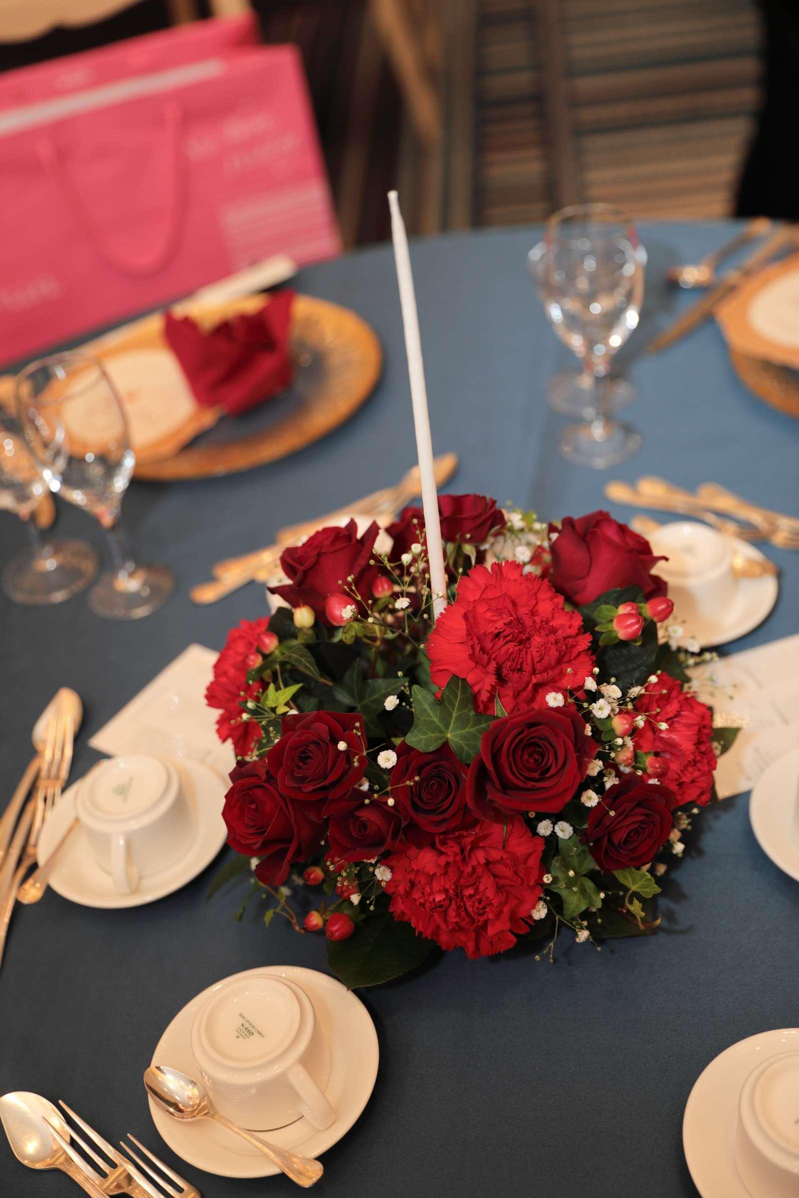 香川の結婚式場シェルエメール&アイスタイル 卓上装花