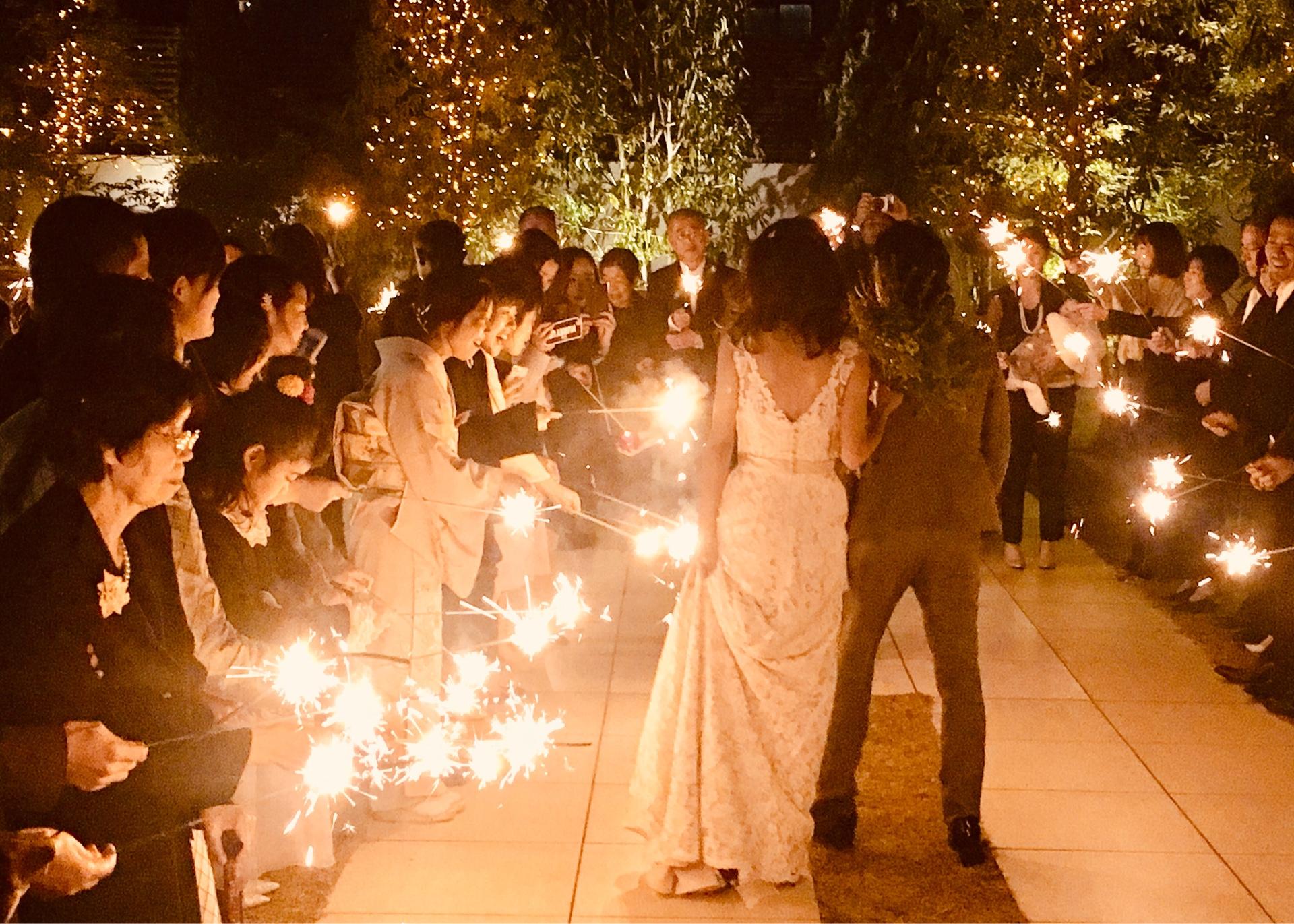 香川の結婚式場のシェルエメール&アイスタイルの花火演出