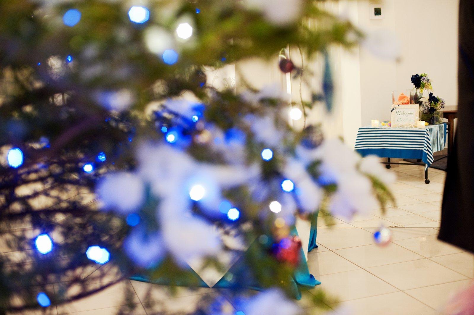 香川の結婚式場のシェルエメール&アイスタイルのクリスマスツリー