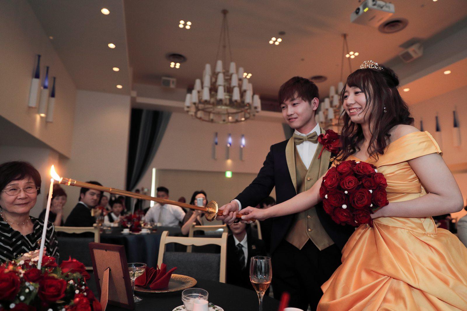 香川県の結婚式場シェルエメール&アイスタイル キャンドルサービス