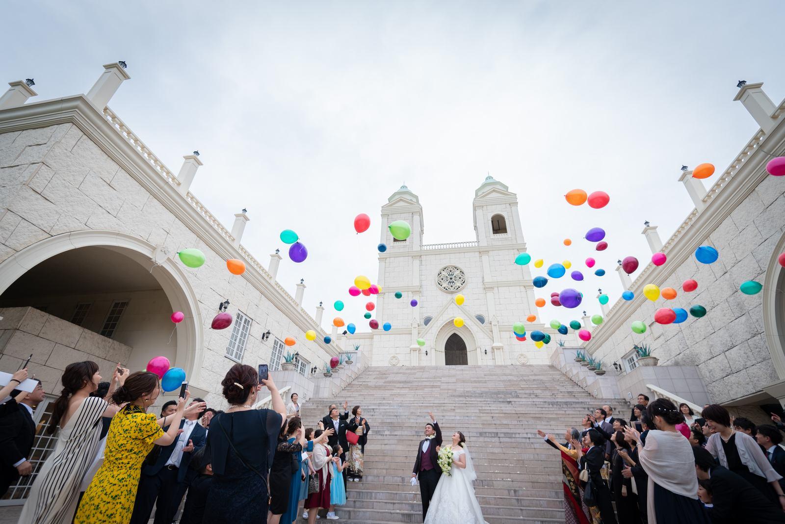 香川の結婚式場シェルエメール&アイスタイル バルーンリリース