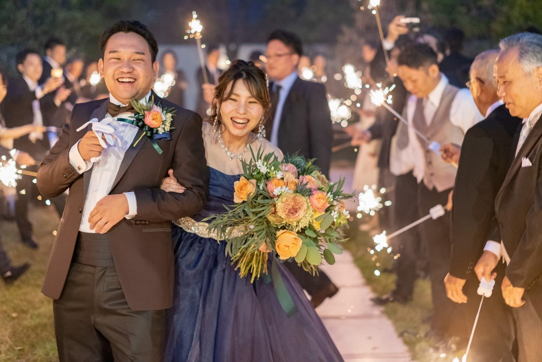 香川の結婚式場シェルエメール&アイスタイル 花火シャワー