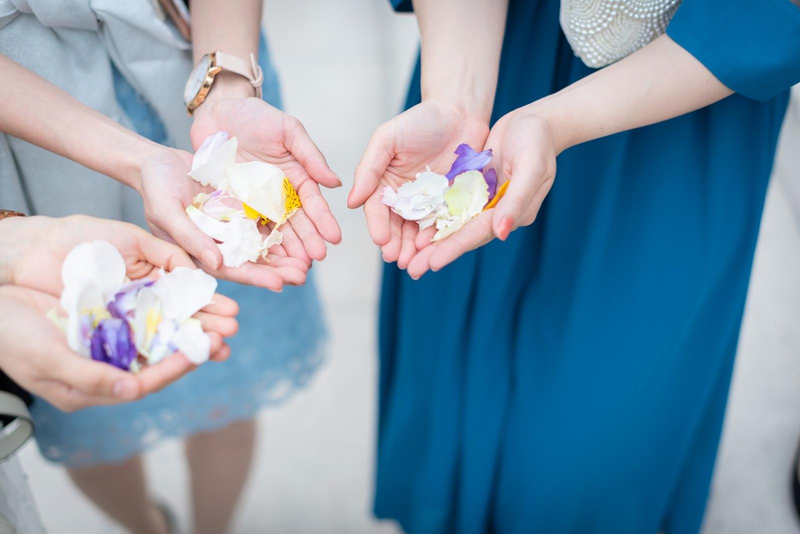 香川の結婚式場シェルエメール&アイスタイル フラワーシャワー