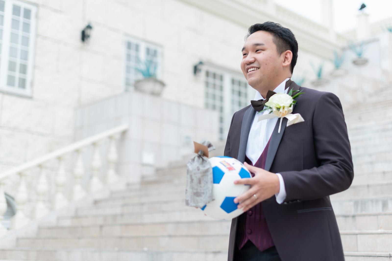 香川の結婚式場シェルエメール&アイスタイル サッカーボールトス