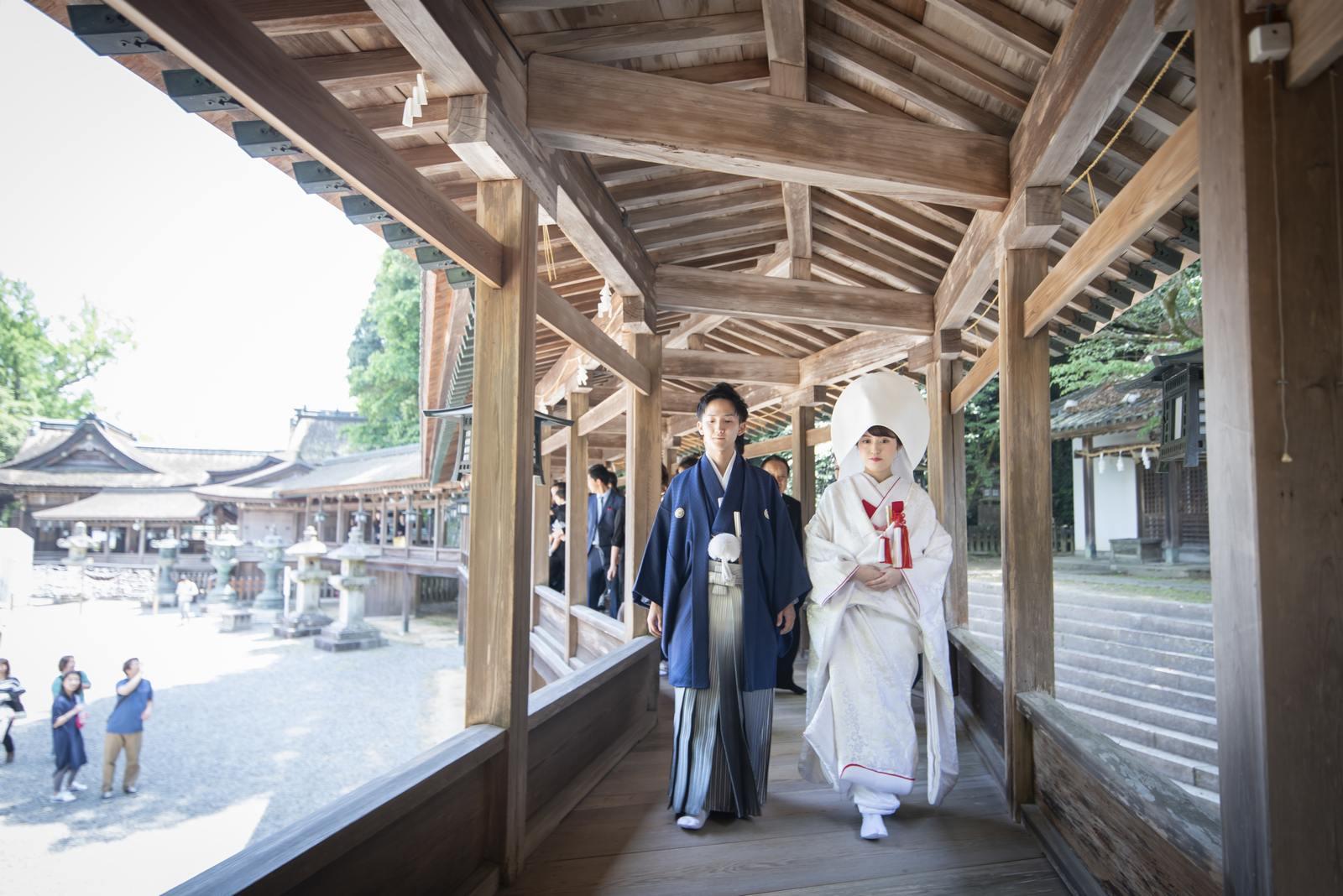 香川県の結婚式場シェルエメール&アイスタイル 金比羅での神前式