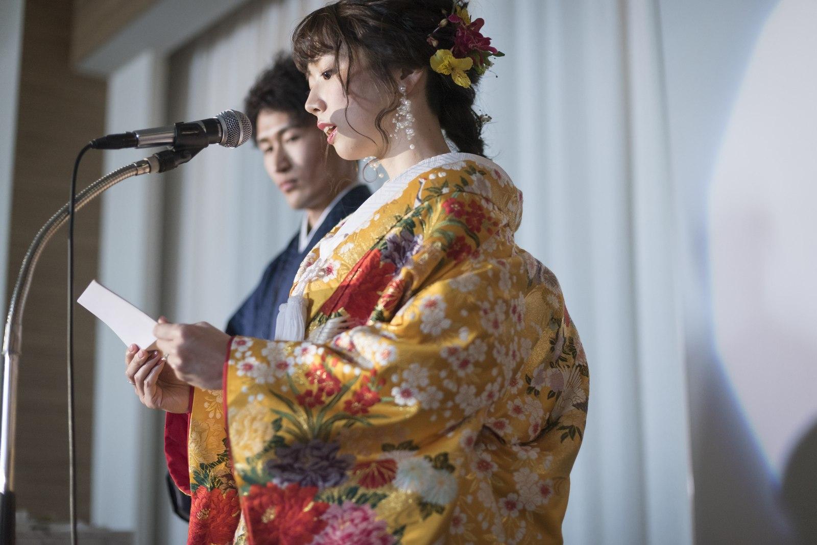香川の結婚式場シェルエメール&アイスタイル 新婦手紙