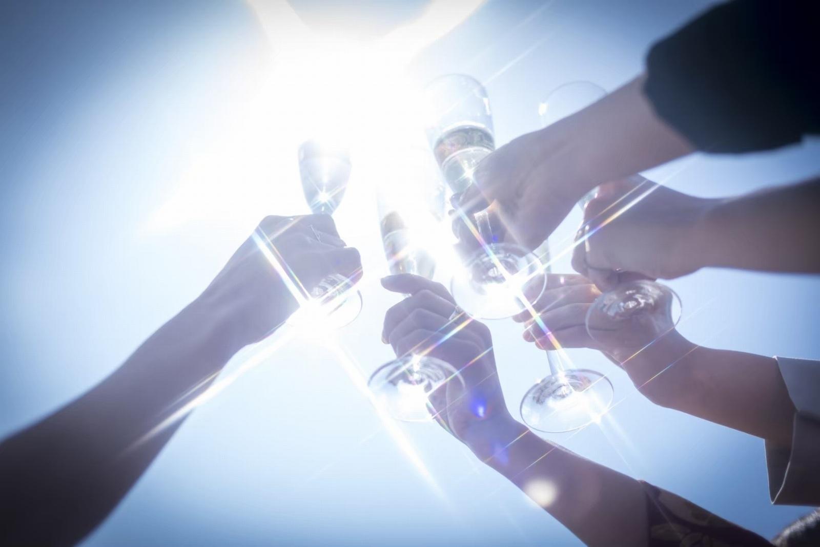 香川県の人気の結婚式場のシェルエメール&アイスタイルの乾杯ドリンク
