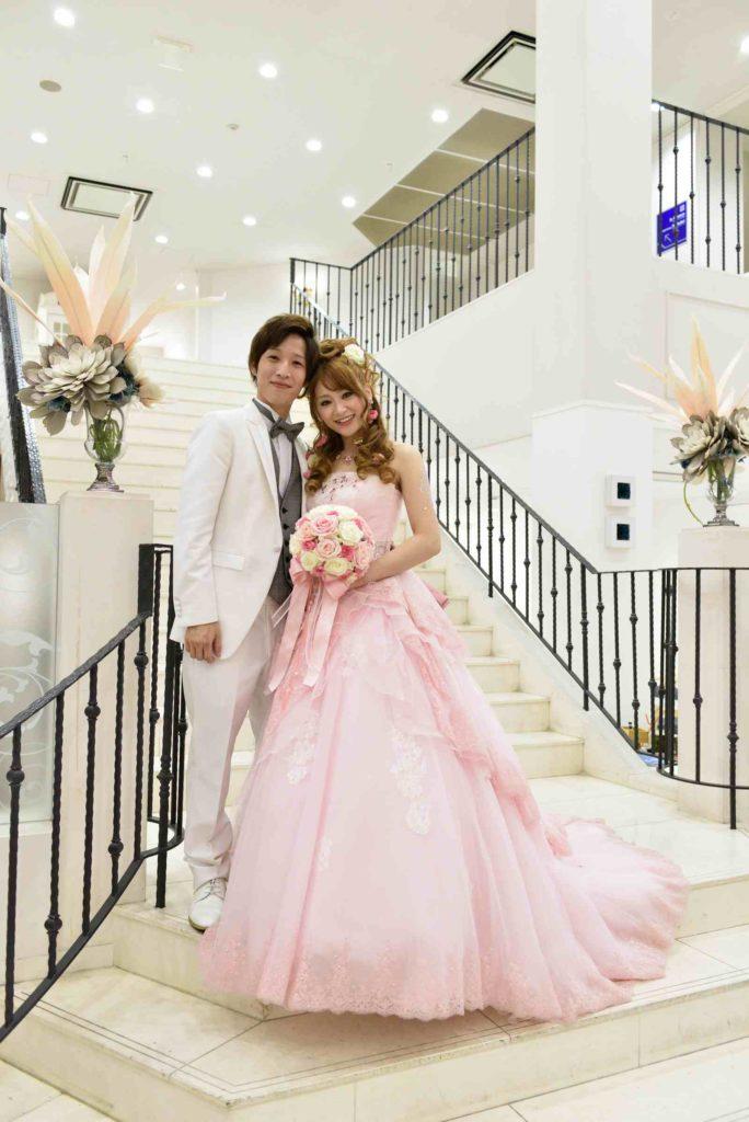 香川県の結婚式場のシェルエメール&アイスタイルのツーショット