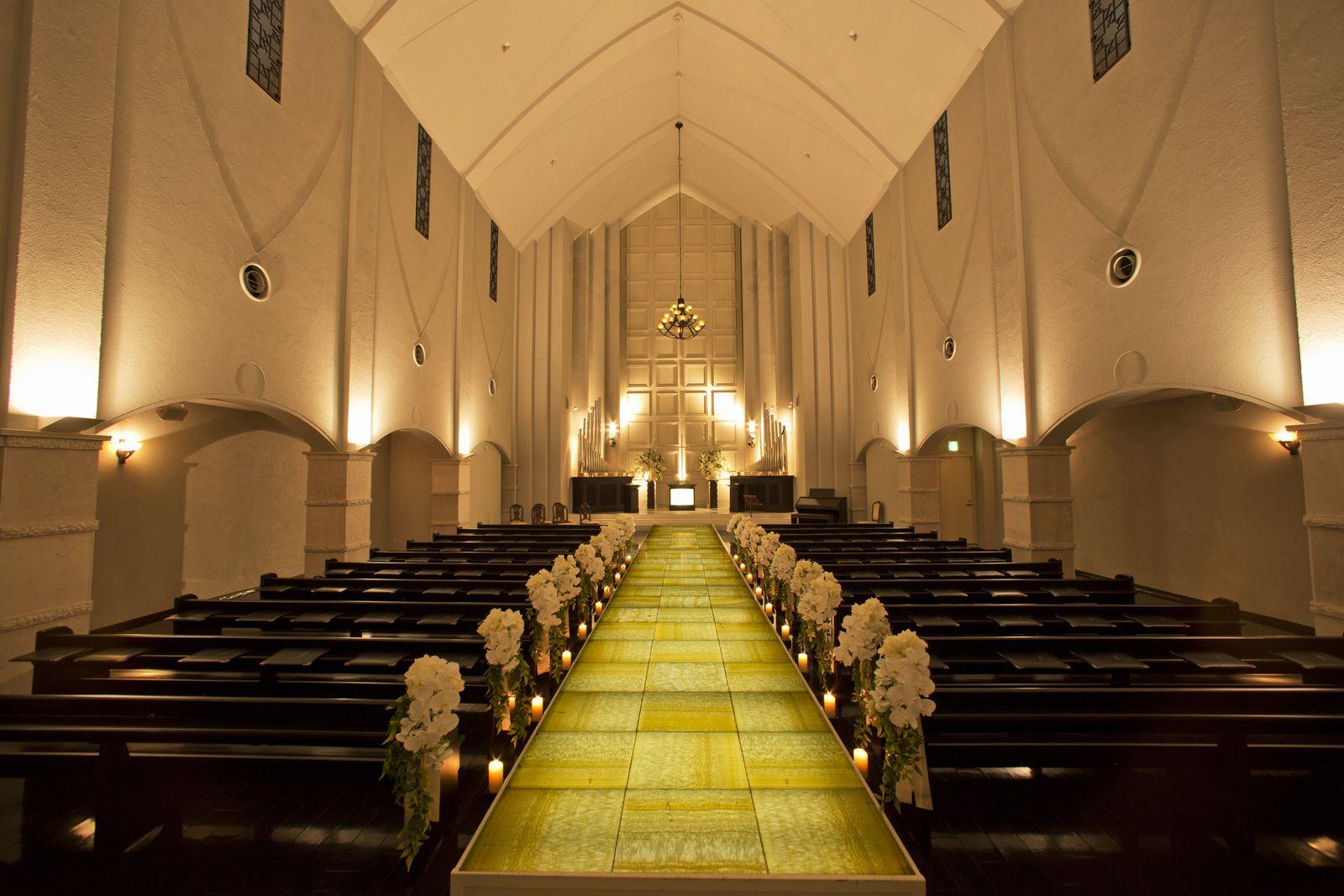 香川県の結婚式場のシェルエメール&アイスタイルの人気のチャペル