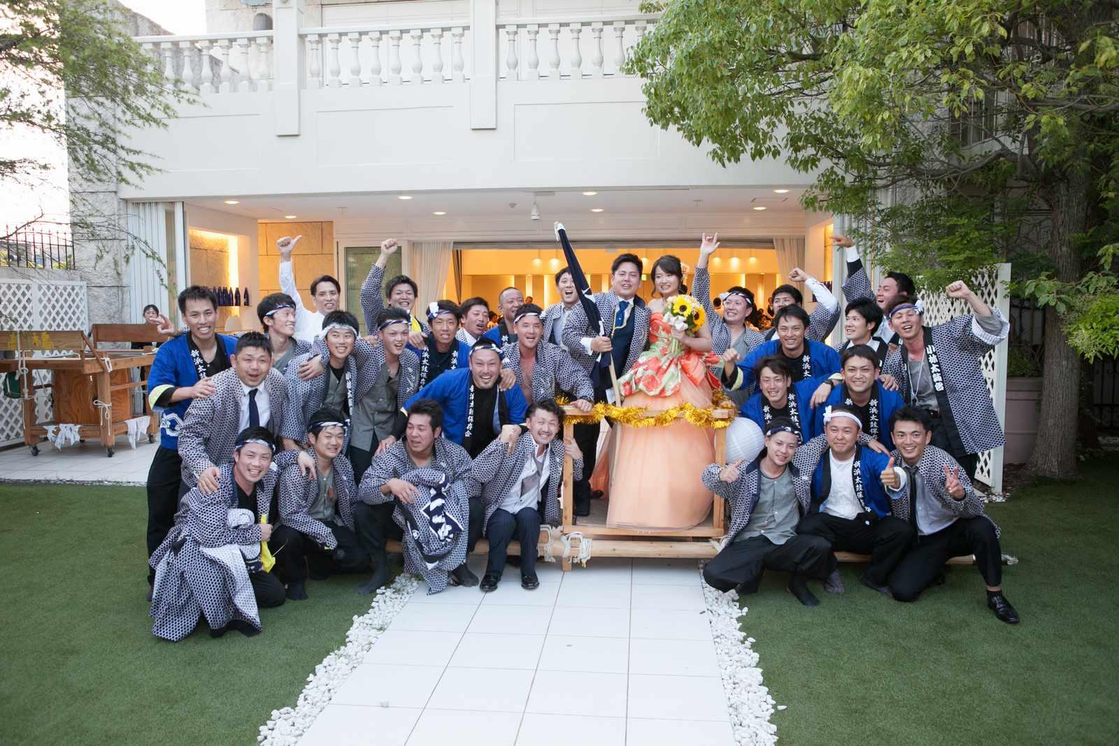 香川県の結婚式場シェルエメール&アイスタイル 集合写真