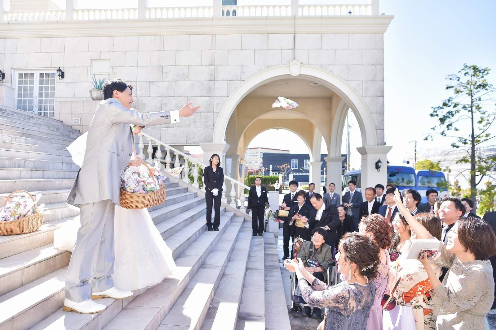 香川県の結婚式場シェルエメール&アイスタイルの福まき