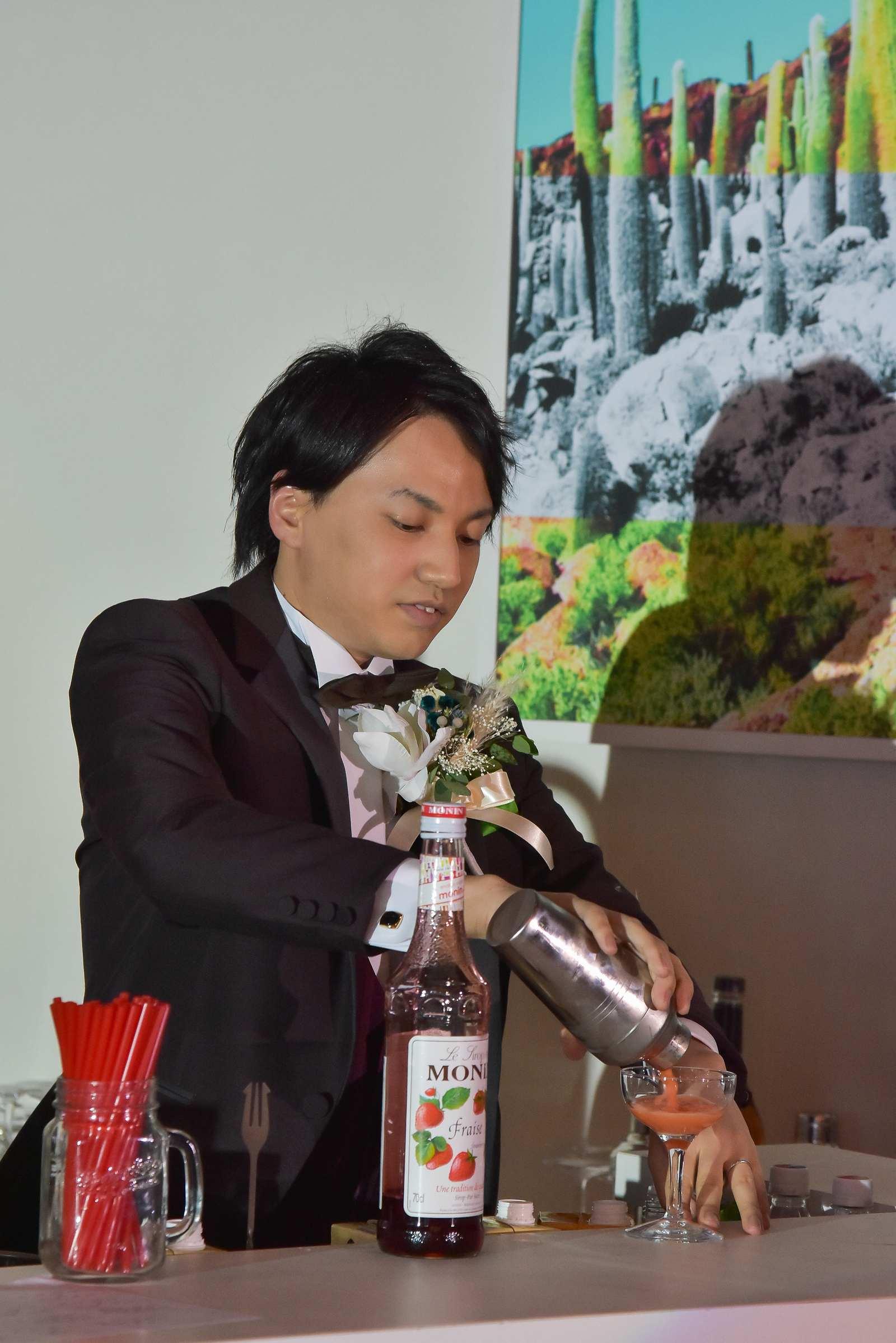 香川県の結婚式場シェルエメール&アイスタイル バーカウンター演出