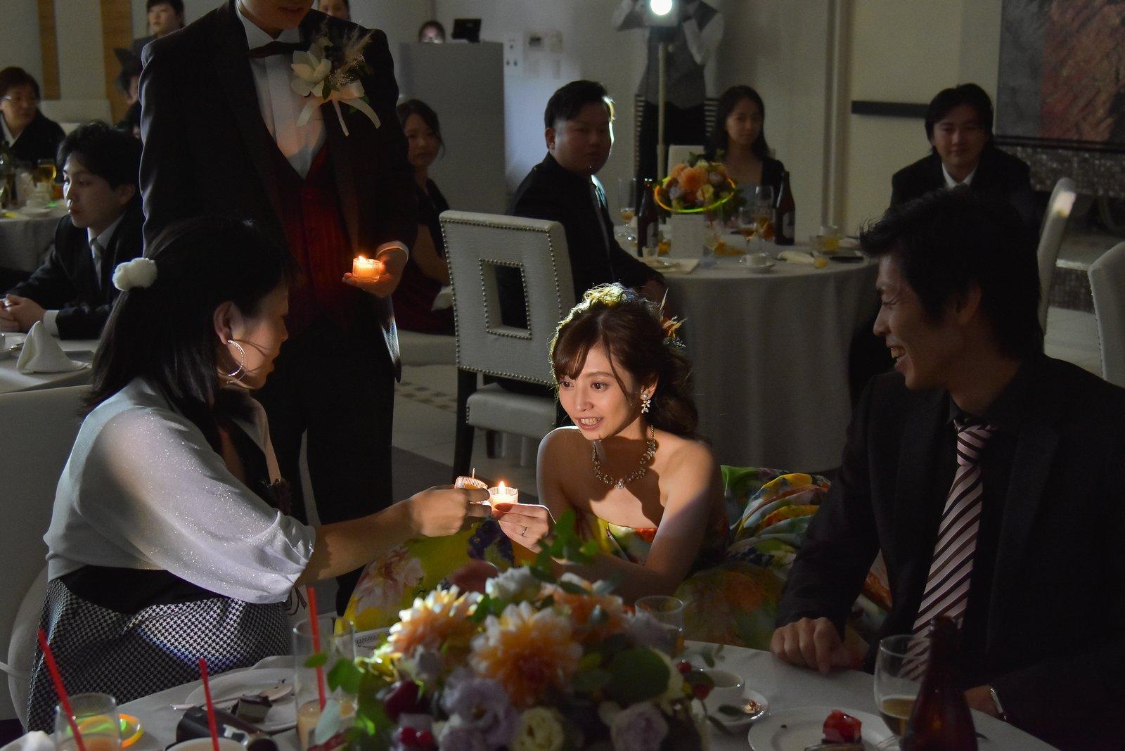 香川県の結婚式場シェルエメール&アイスタイル キャンドルリレー