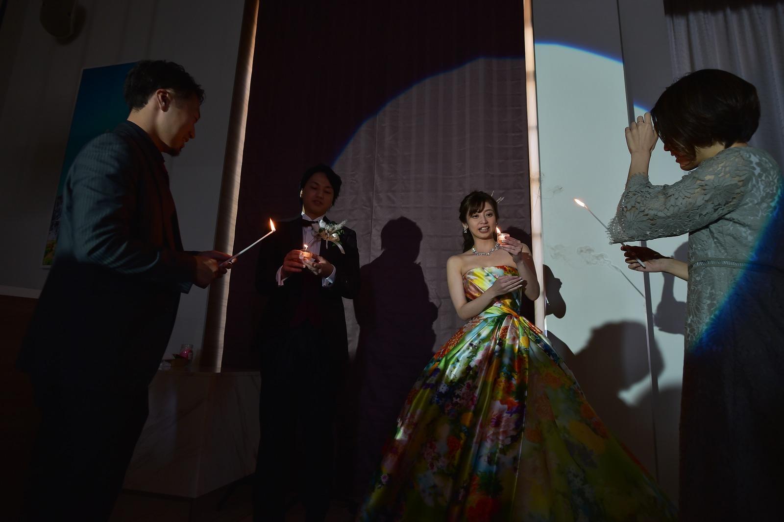 香川県の結婚式場シェルエメール&アイスタイルのキャンドルリレー