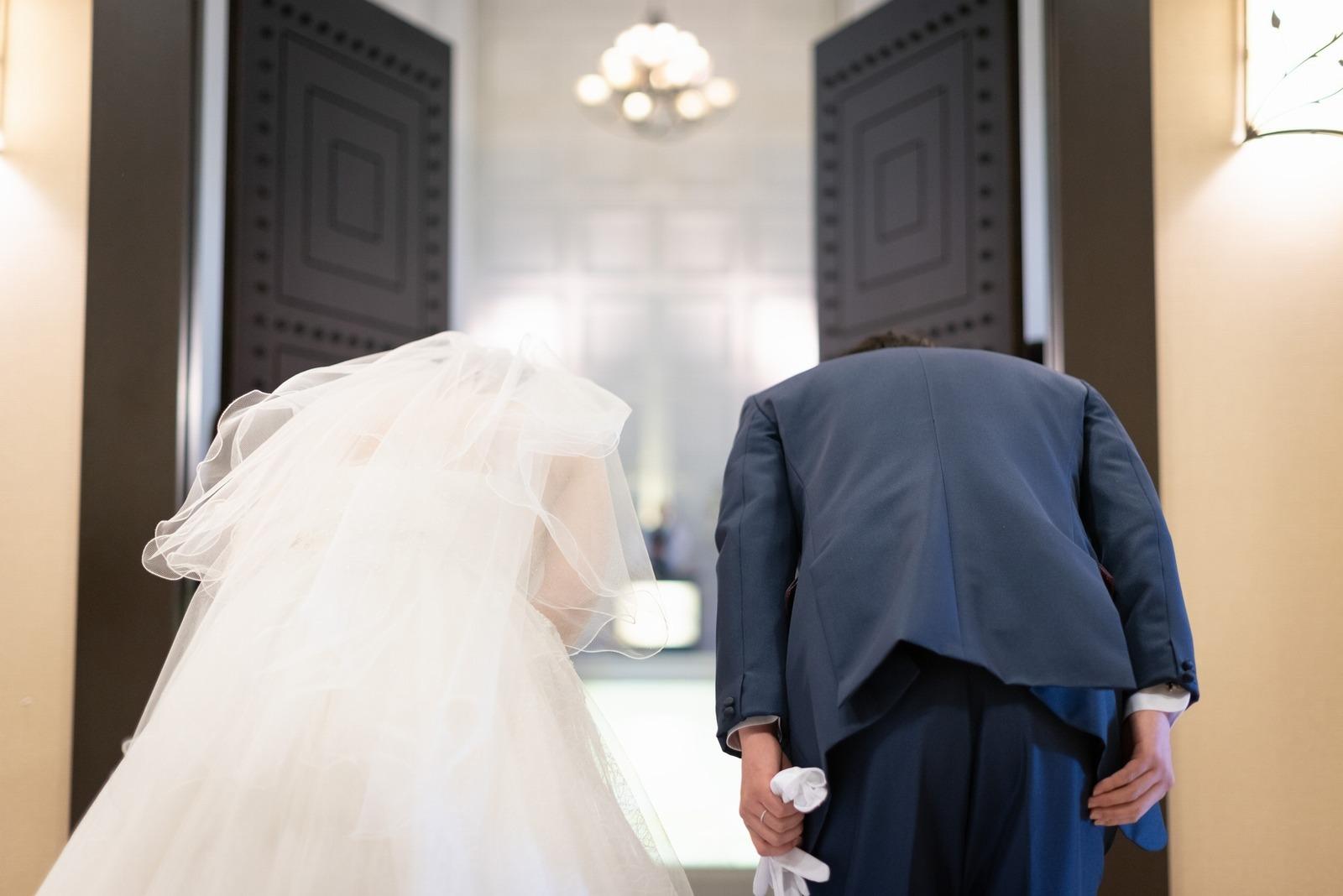香川県の結婚式場のシェルエメール&アイスタイル 挙式退場