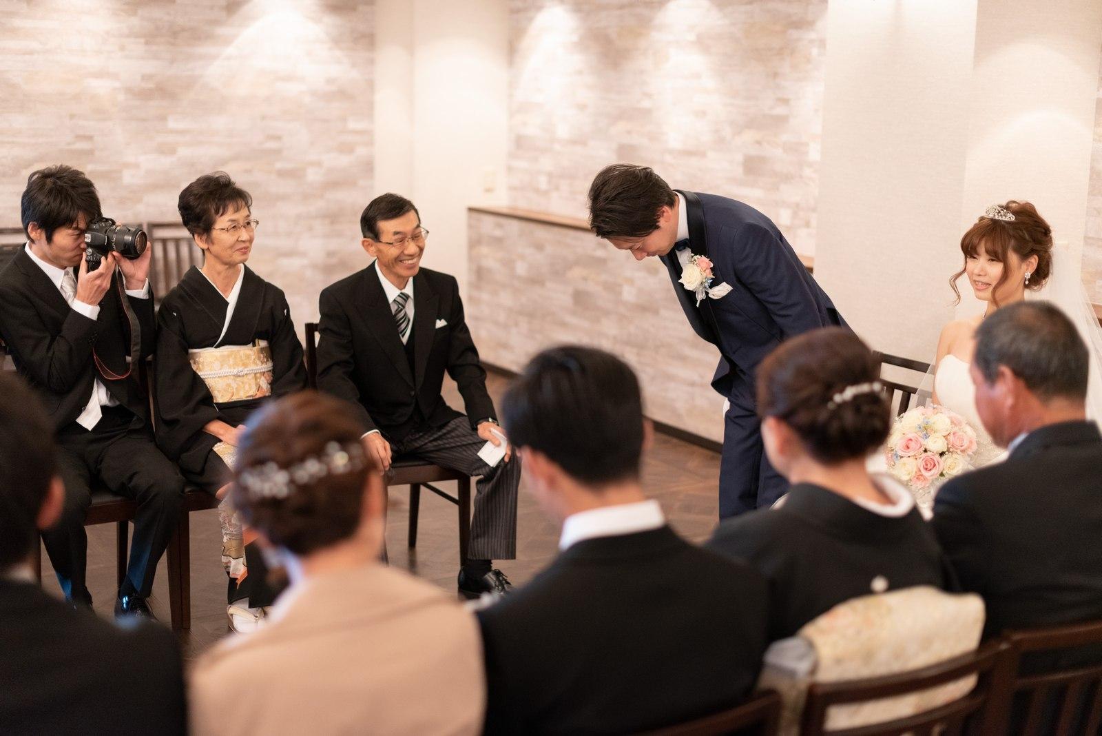 香川県の結婚式場のシェルエメール&アイスタイルの対面式