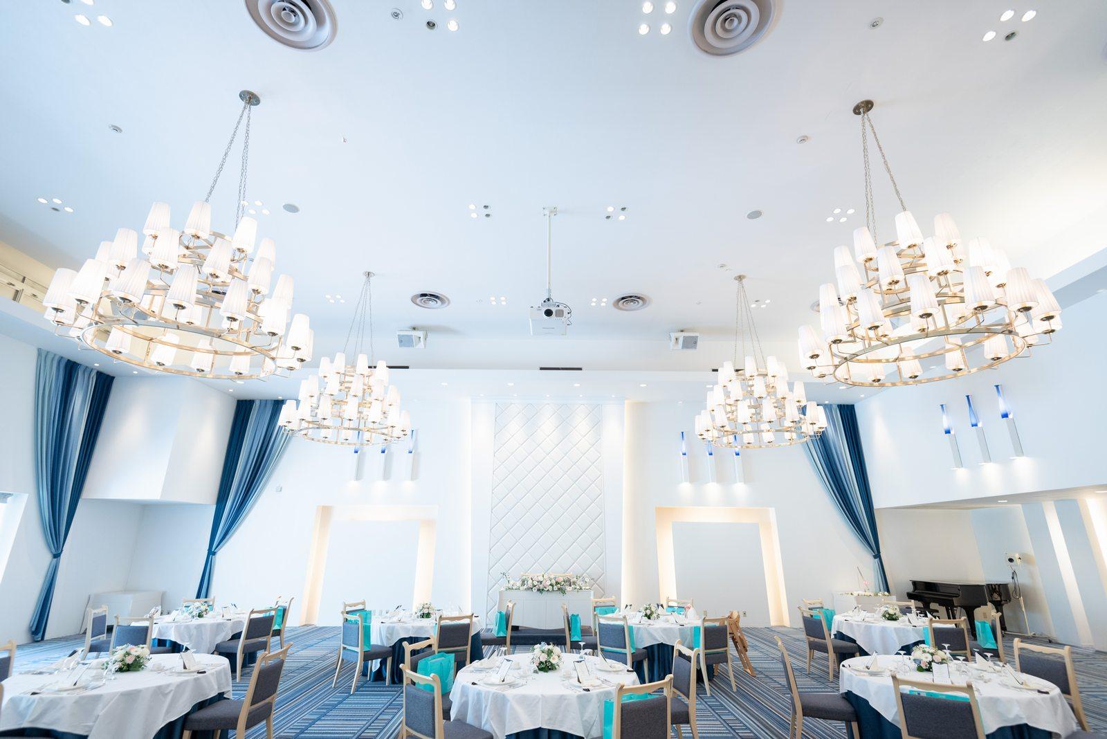 香川県の結婚式場のシェルエメール&アイスタイルの会場コーディネート