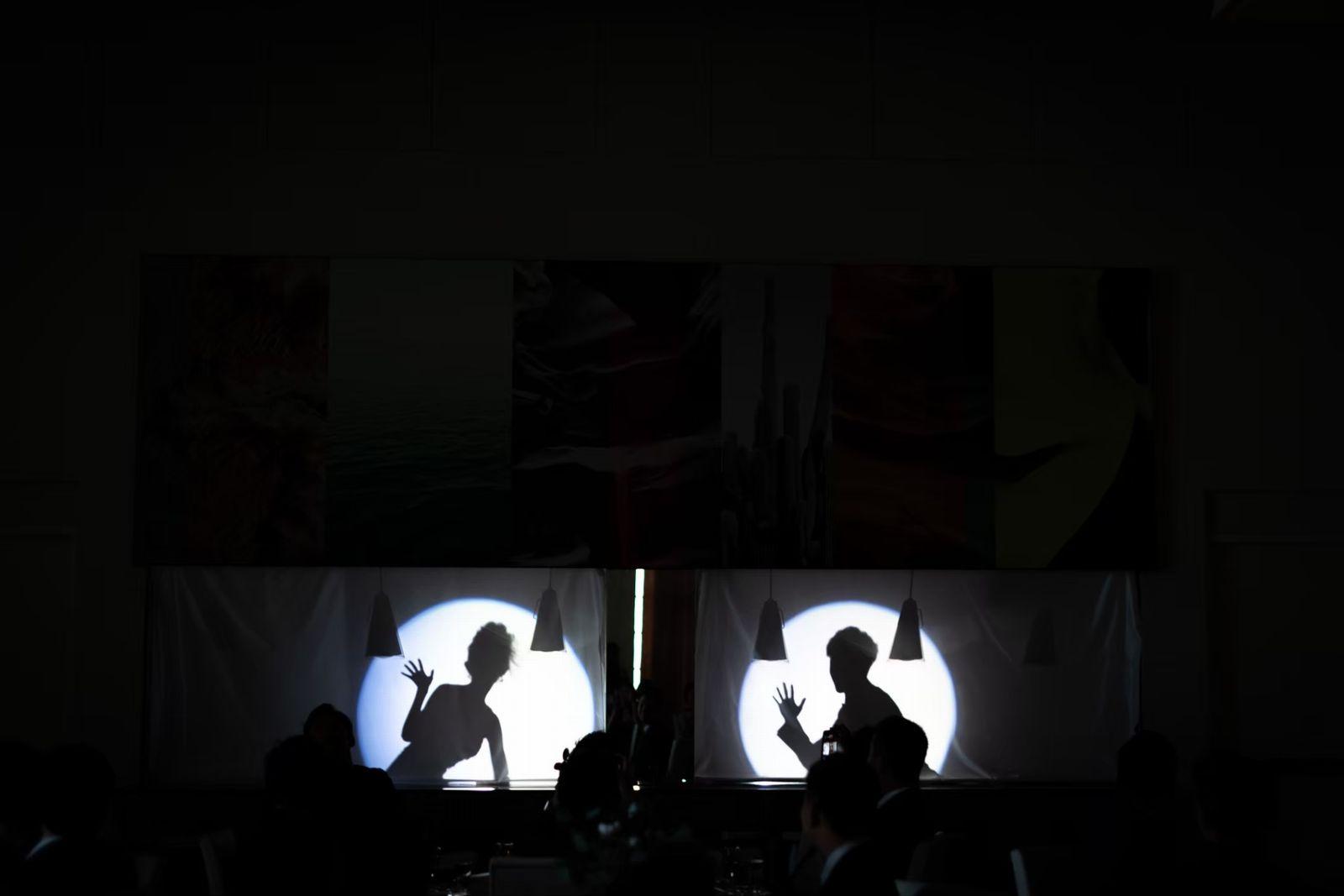 香川県の結婚式場シェルエメール&アイスタイルのシルエット入場