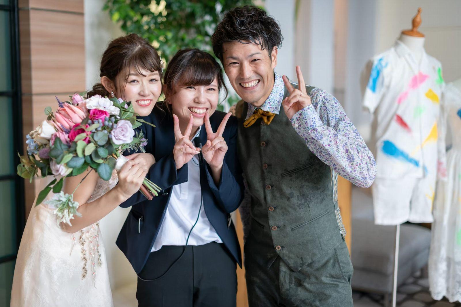 香川県の結婚式場シェルエメール&アイスタイル 新郎新婦とプランナー