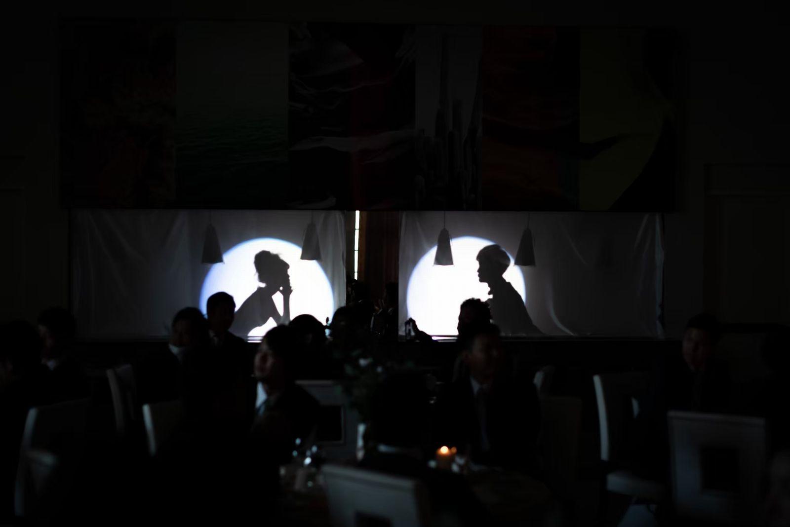 香川県の結婚式場シェルエメール&アイスタイル シルエット入場