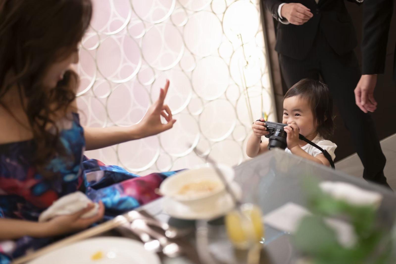 香川県の結婚式場シェルエメール&アイスタイルのお子様カメラマン