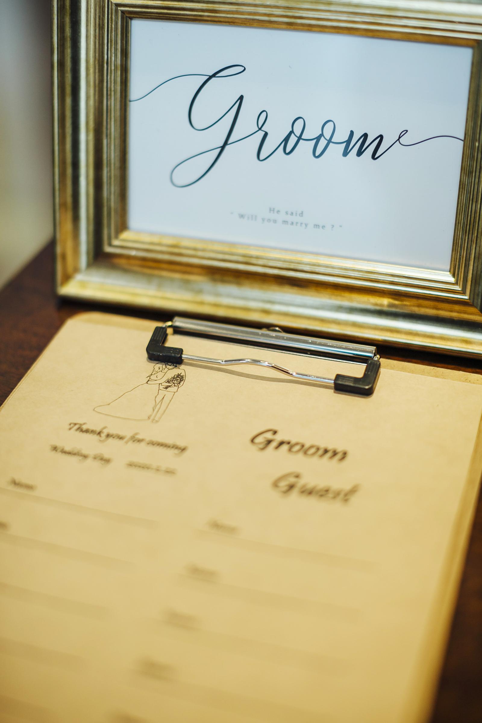 香川県の結婚式場シェルエメール&アイスタイルのゲストブック