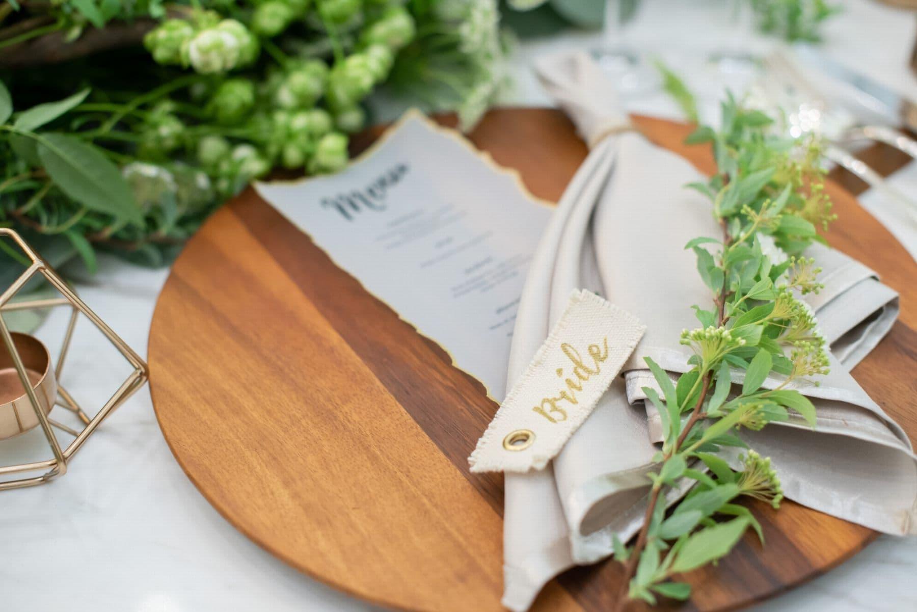 香川県の結婚式場シェルエメール&アイスタイルの手作り席札コーディネート