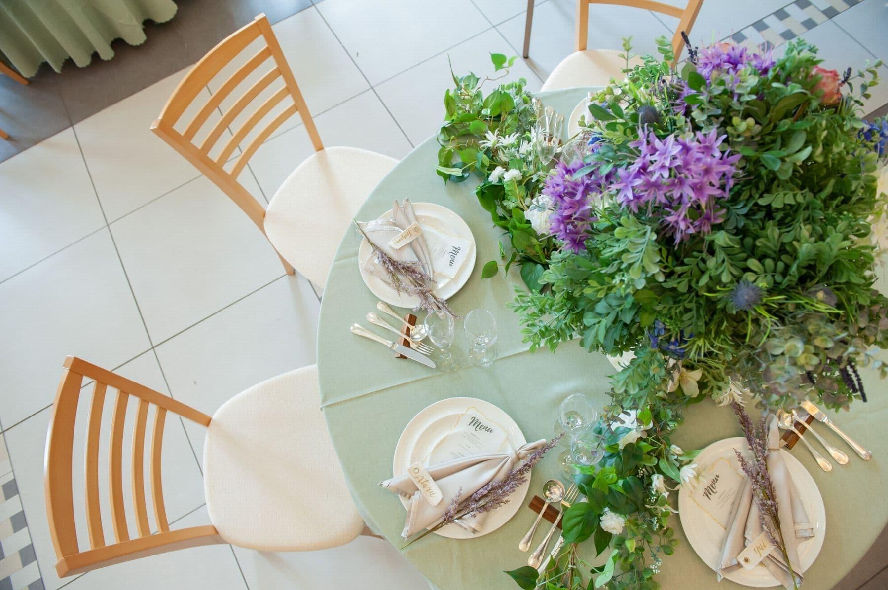 香川県の結婚式場シェルエメール&アイスタイルのグリーンコーディネート