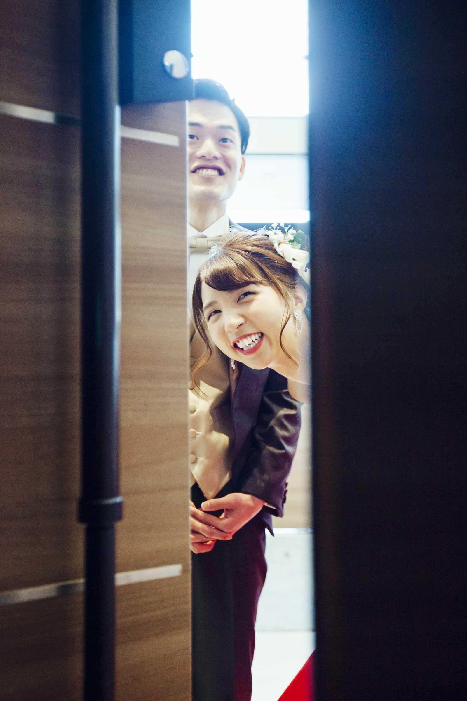 香川県の結婚式場シェルエメール&アイスタイルののぞき見ショット