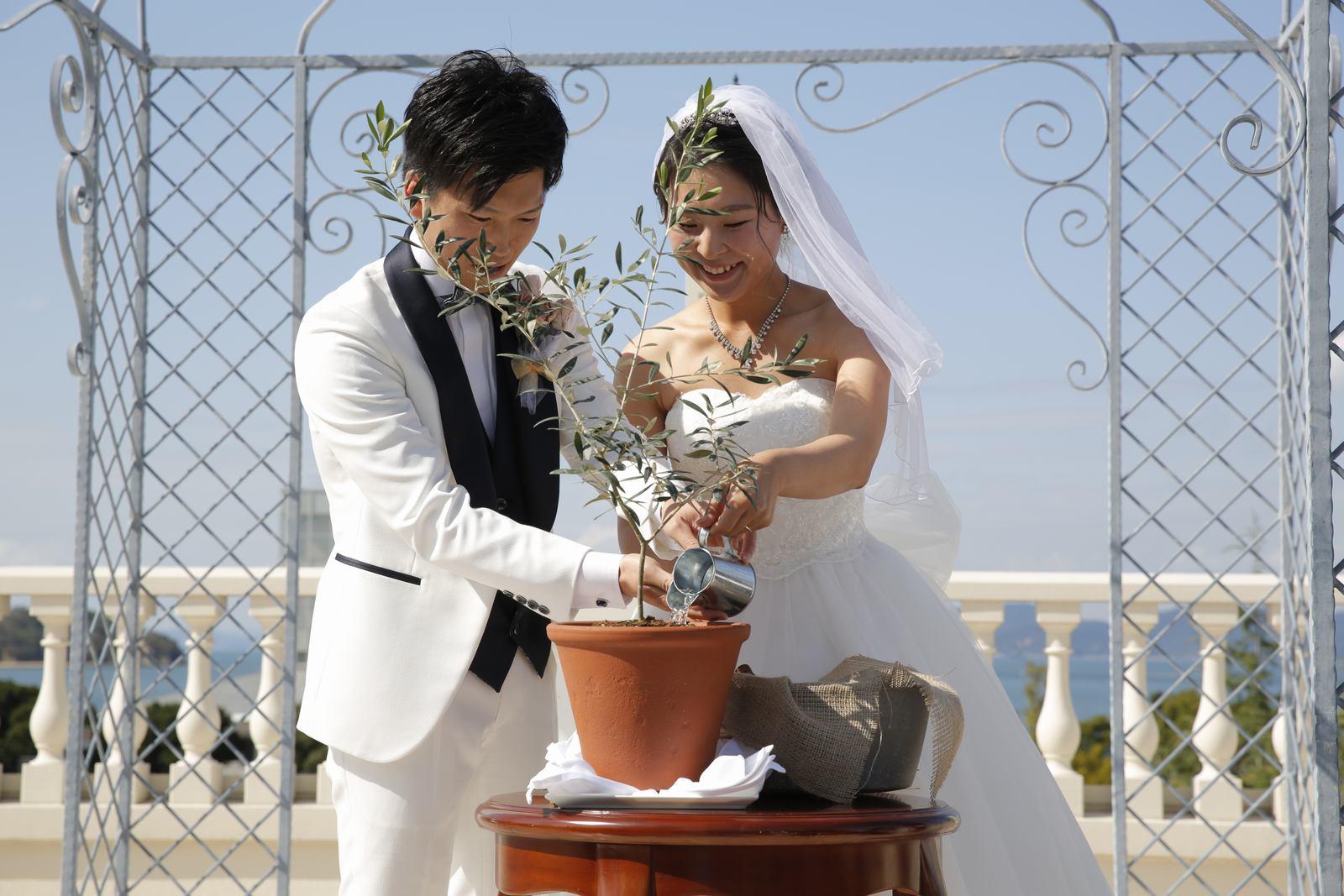 香川県の結婚式場シェルエメール&アイスタイル ルーフテラス挙式