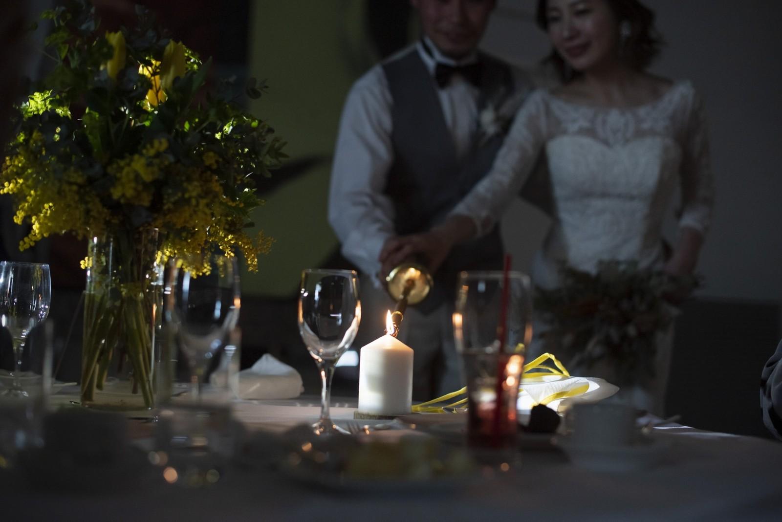 香川県の結婚式場シェルエメール&アイスタイルのキャンドルサービス
