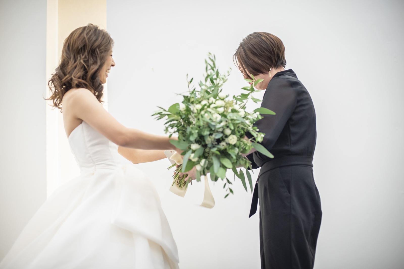香川県の結婚式場シェルエメール&アイスタイルのブーケプレゼント